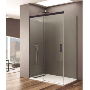 Parois de douche en noir