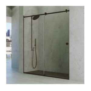 Paroi de douche sur-mesure en inox VF + PC ODER - 02